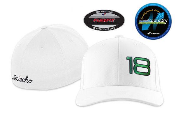 Gorra de golf modelo foursome color blanco