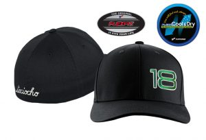 Gorra de golf modelo foursome color negro