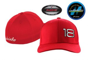 Gorra de golf modelo foursome color rojo