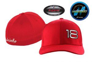 Gorra de golf modelo foursome color rojo