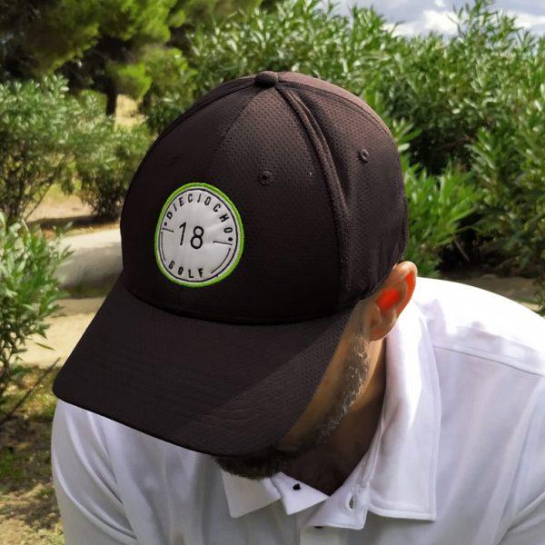 Gorra-golf-negra-modelo-hole