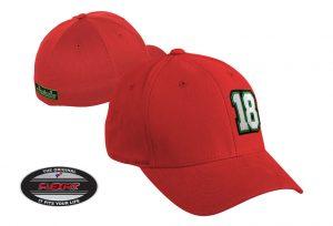 Gorra de golf modelo tee color rojo