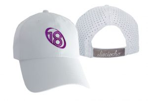 Gorra de golf modelo chip color blanco