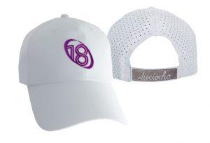 Gorra de golf modelo chip color blanco