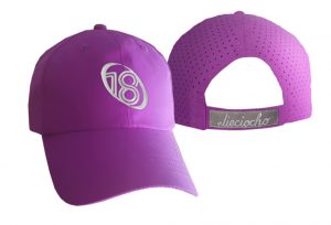 Gorra de golf modelo chip color morado