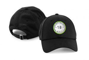 Gorra de golf modelo hole color negro