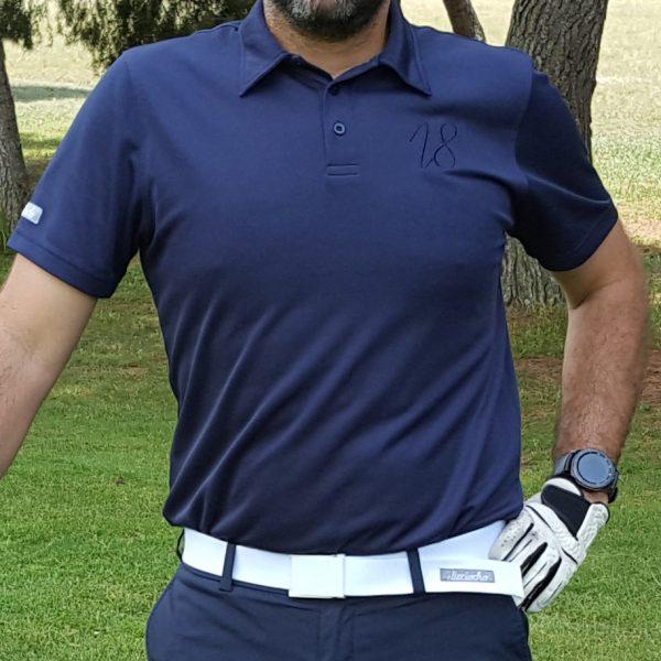 Look del polo de golf modelo driver color azul marino