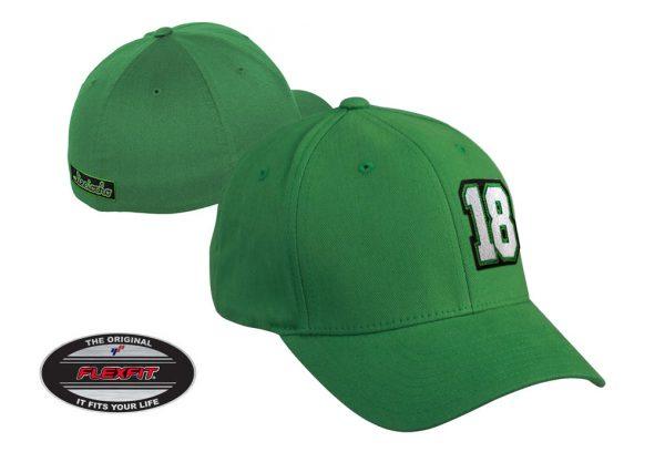 Gorra de golf modelo tee color verde