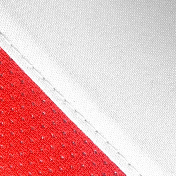 Material visera de golf modelo approach blanca y roja