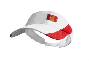 visera de golf modelo approach blanca y roja