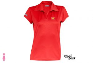 Polo de golf de mujer modelo approach rojo manga corta, transpirable