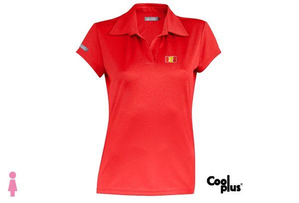 Polo de golf de mujer modelo approach rojo manga corta, transpirable