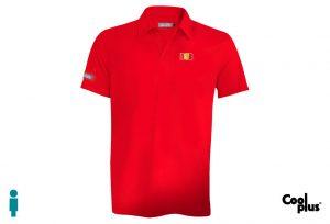 Polo de golf de hombre modelo approach rojo manga corta, transpirable