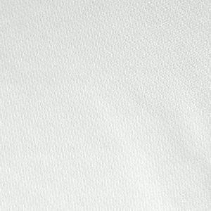 Detalle del tejido del polo de niña modelo junior color blanco