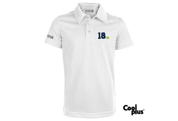 Polo de golf de niño modelo junior color blanco