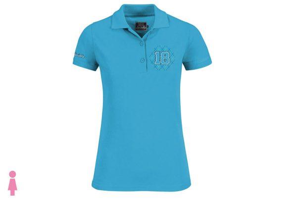 Polo de golf de mujer modelo greensome color azul