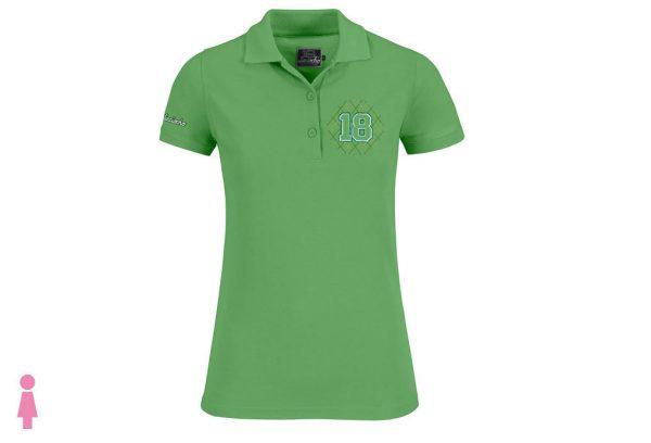 Polo de golf de mujer modelo greensome color verde