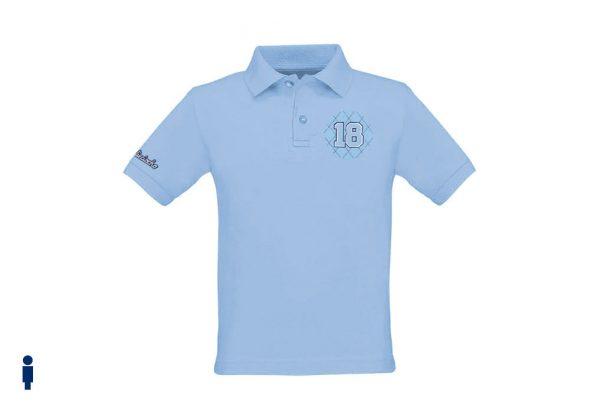 Polo de golf de niño modelo greensome color azul celeste