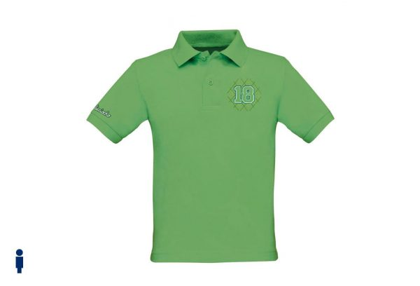 Polo de golf de niño modelo greensome color verde