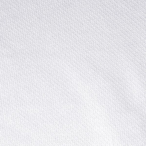 Detalle del tejido del polo de hombre modelo foursome color blanco