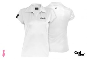 Polo de golf de mujer modelo foursome blanco manga corta, transpirable