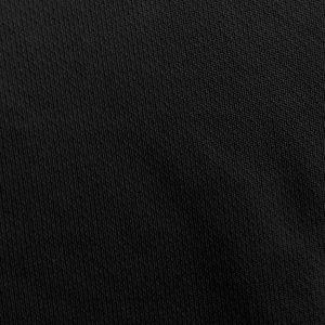 Detalle del tejido del polo de mujer modelo foursome color negro