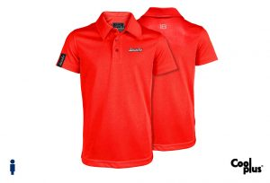 Polo de golf de niño modelo foursome color rojo