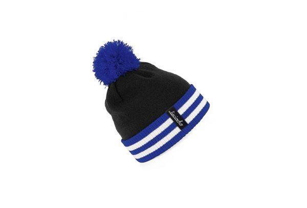 gorro golf modelo par colores negro azul y blanco