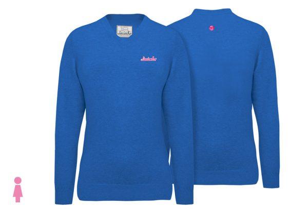Jersey de golf de mujer modelo caddie color azul