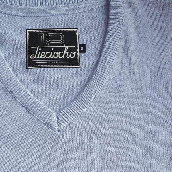 detalle jersey de golf de mujer modelo caddie color gris