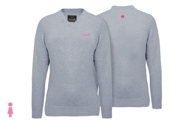 Jersey de golf de mujer modelo caddie color gris