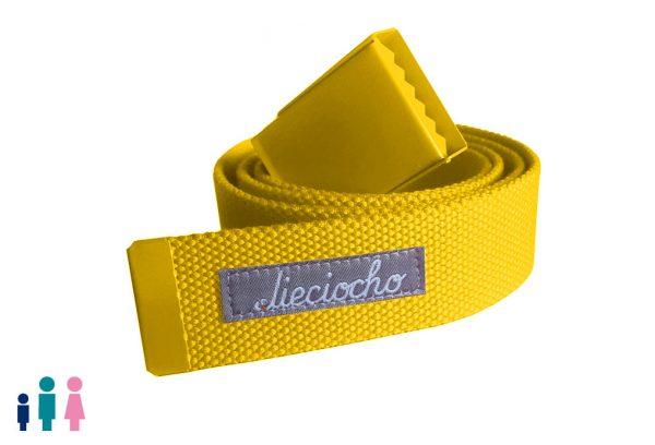 cinturón rojo de amarillo