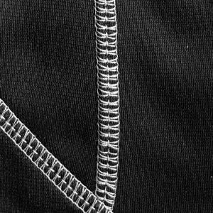 Detalle tejido sudadera de golf técnica de mujer color negro modelo foursome