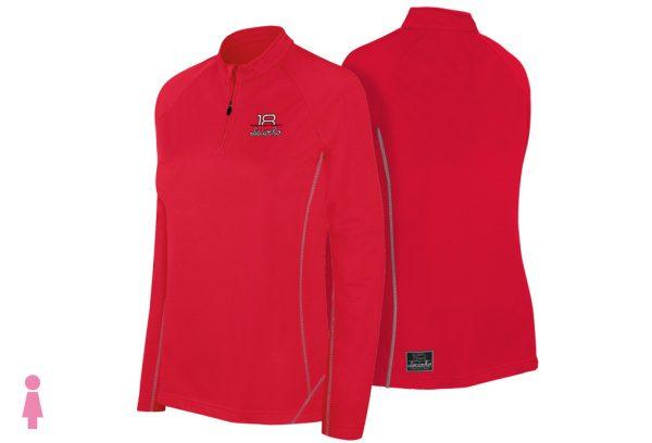Sudadera de golf técnica de mujer color rojo modelo foursome