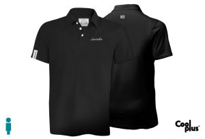 Polo de golf modelo foursome negro manga corta, transpirable