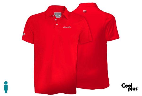 Polo de golf de hombre modelo foursome color rojo
