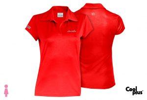 Polo de golf de mujer modelo foursome rojo manga corta, transpirable