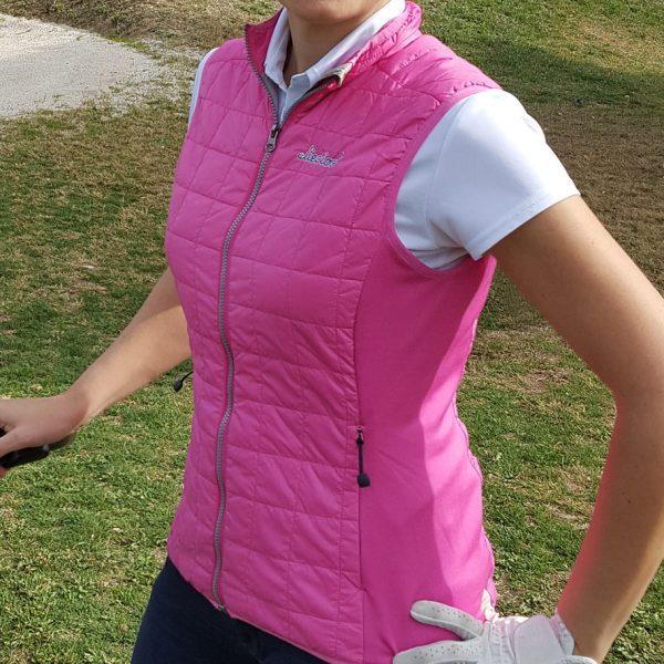 chaleco de golf caddie rosa mujer