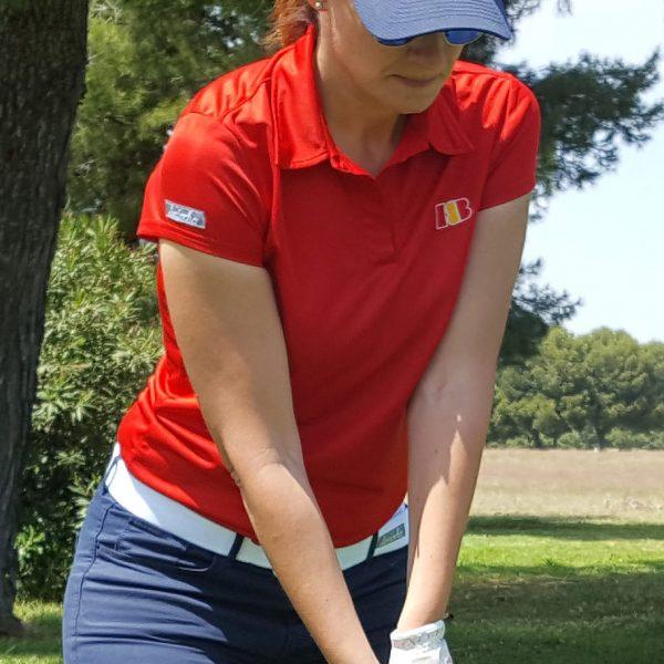 polo de golf approach rojo mujer