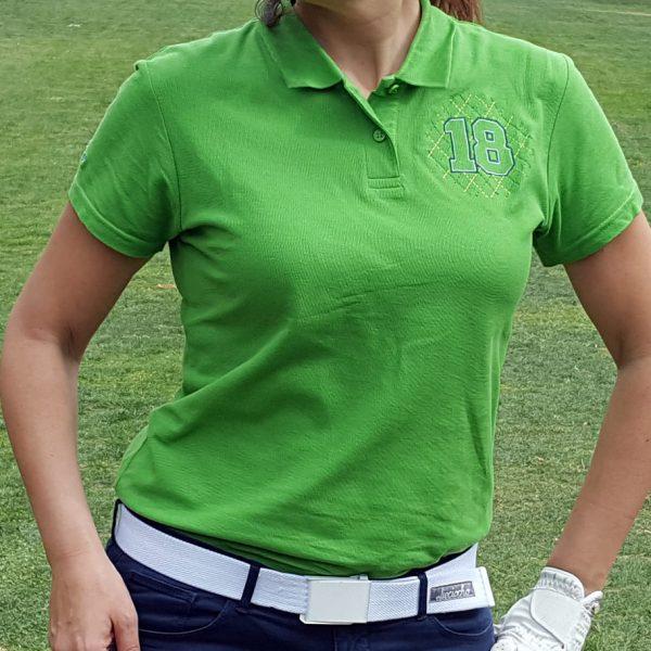 polo de golf greensome verde mujer