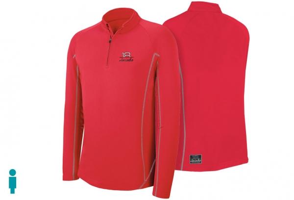 Sudadera de golf técnica de hombre color rojo modelo foursome
