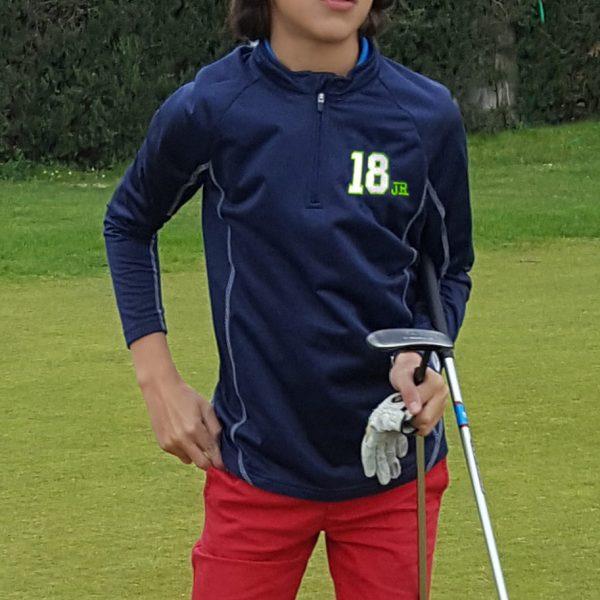 sudadera de golf para niño modelo junior color marino