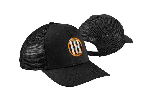 Gorra de golf color negro modelo draw