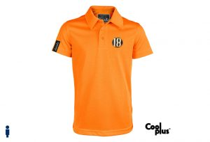 Polo de golf de niño modelo draw color naranja