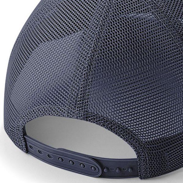 Detalle posterior gorra de golf color marino modelo draw