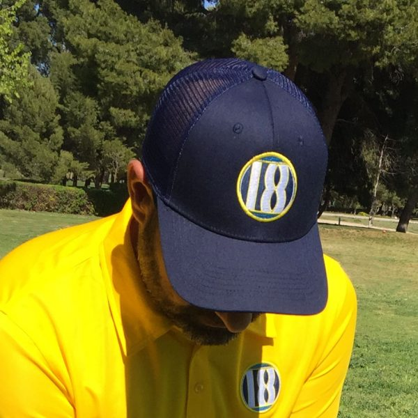 look de golf gorra draw marino