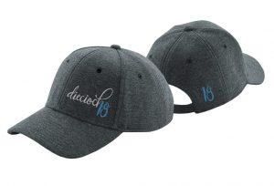 Gorra de golf de punto de algodón color gris oscuro