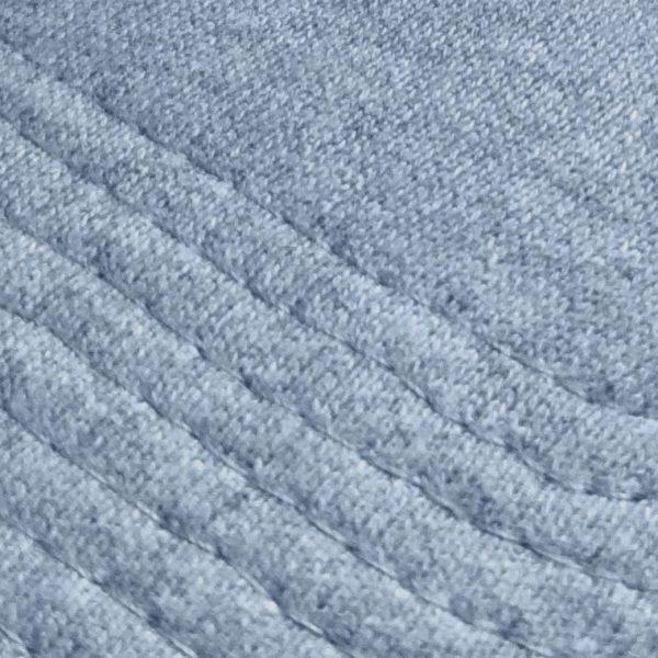 Detalle del tejido de la gorra de golf de punto de algodón gris claro