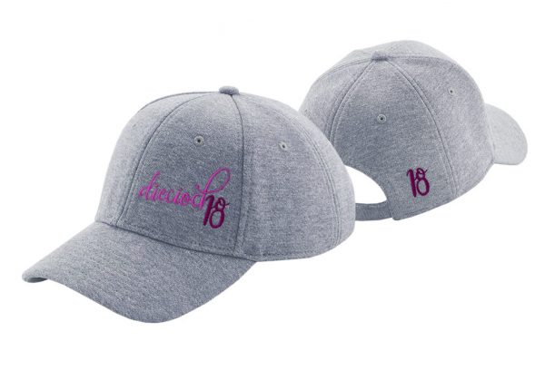 Gorra de golf de punto de algodón color gris claro