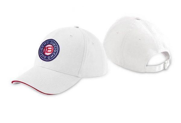 Gorra de golf modelo caddie color blanco